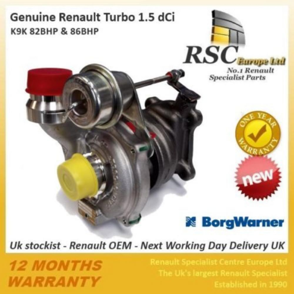 BRAND NEW GENUINE BORG WARNER 1.5 DCI K9K TURBO 54359710029